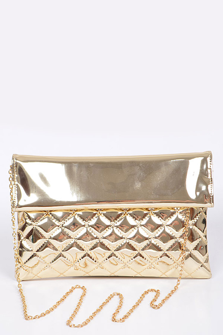 Mirror Quilted Iconic Clutch