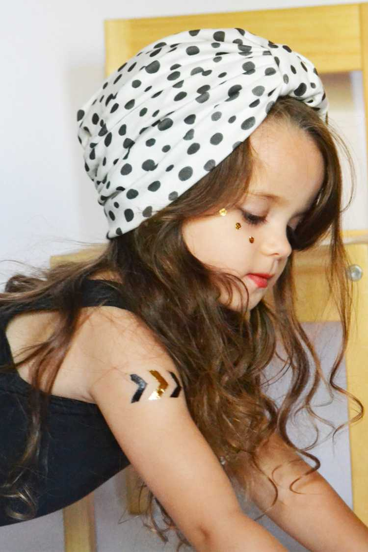Kid's Polka Dots Turban Hat