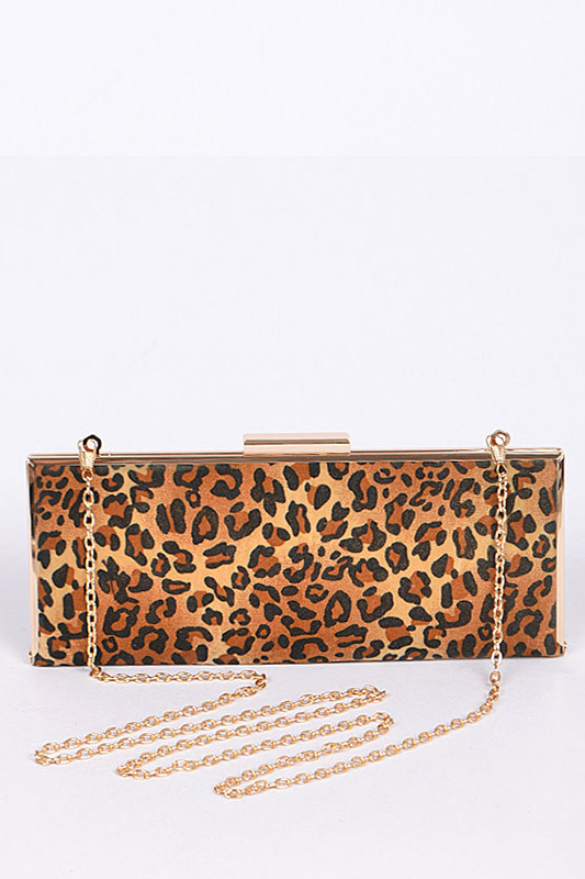 Leopard Printed Iconic Clutch