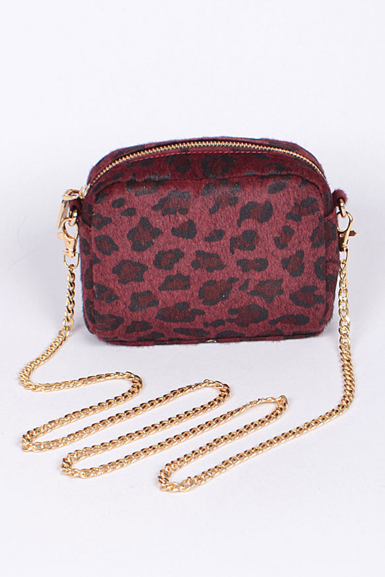 Leopard Print Iconic Swing Bag