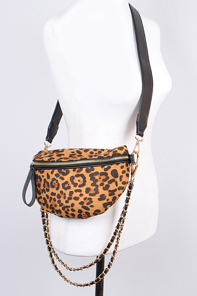 Leopard Printed Iconic Convertible Swing Bag