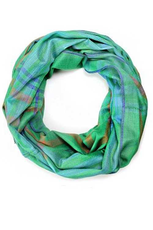 Mad For Plaid Large Cotton Infinity Scarf