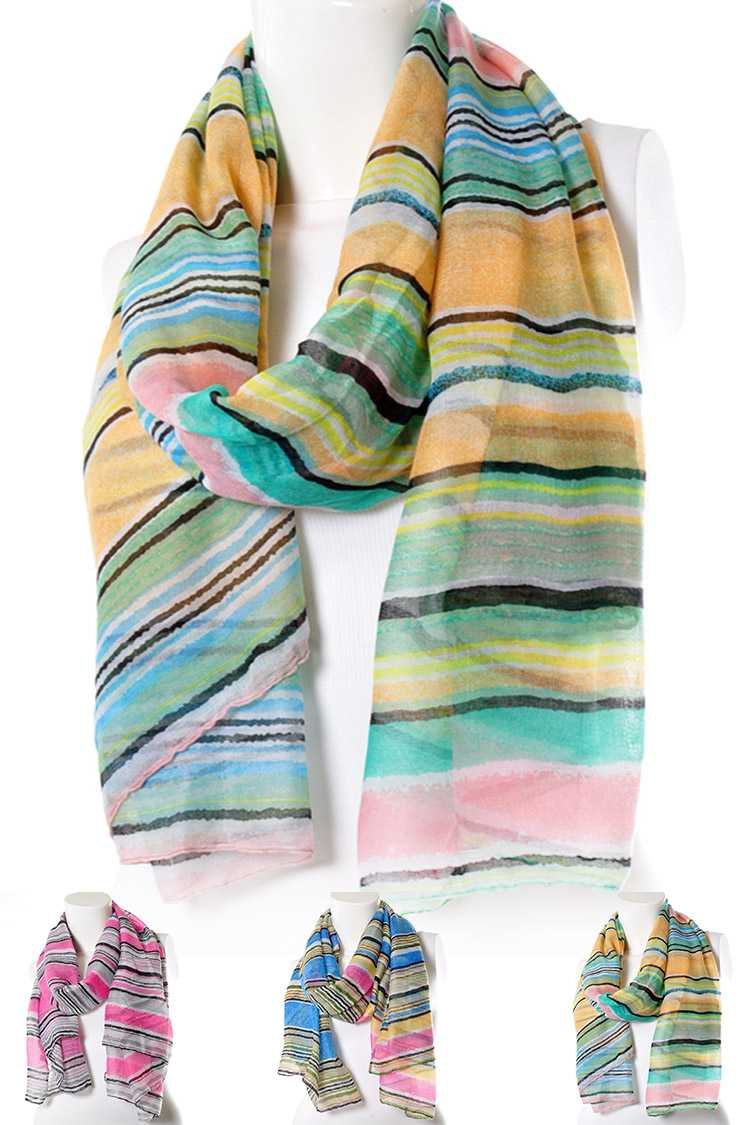 Mix Tone Stripes Scarf
