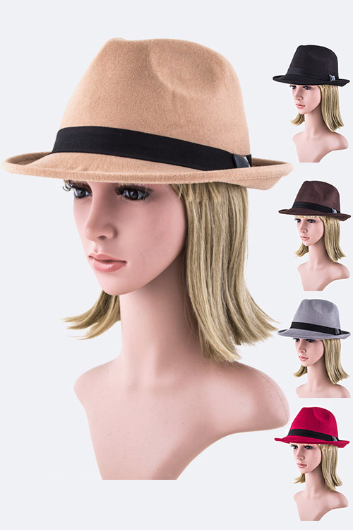 Crystal Band Felt Panama hat