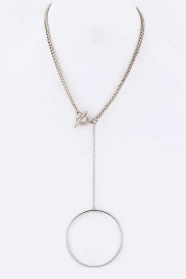 Hoop Drop Toggle Necklace