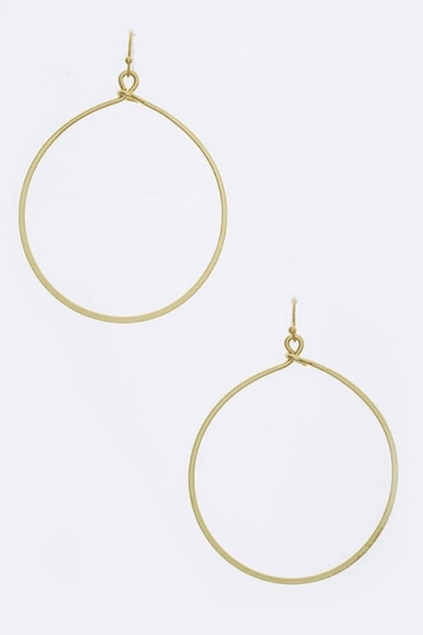 Wired Circle Drop Fashion Earrings