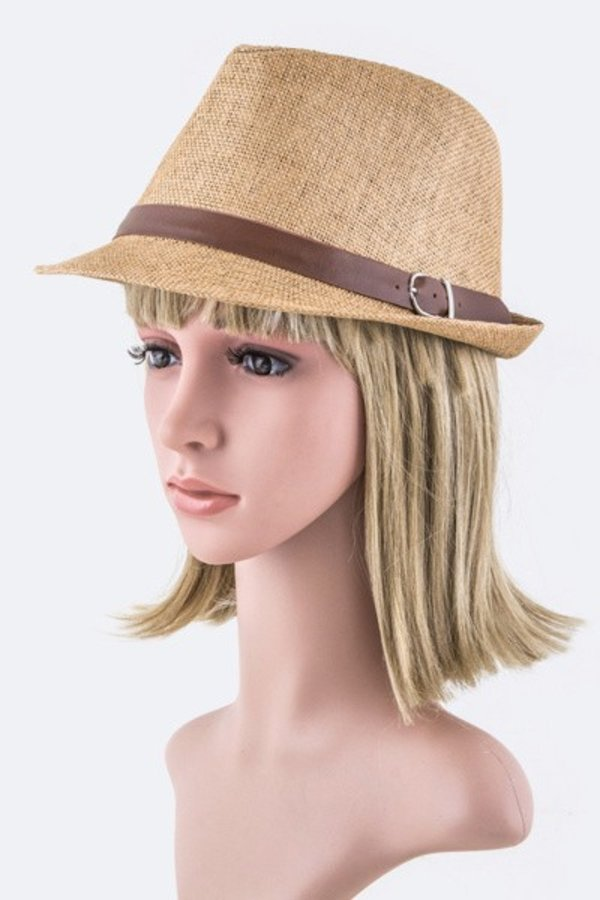 Buckled Leather Band Fashion Fedora