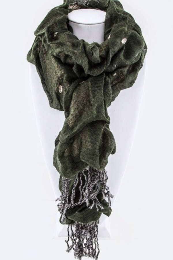 Crinkle Stretchy Ruffle Scarf