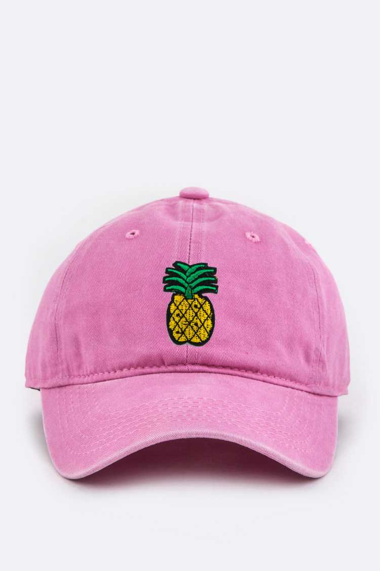 Pineapple Embroidery Patch Cotton Cap