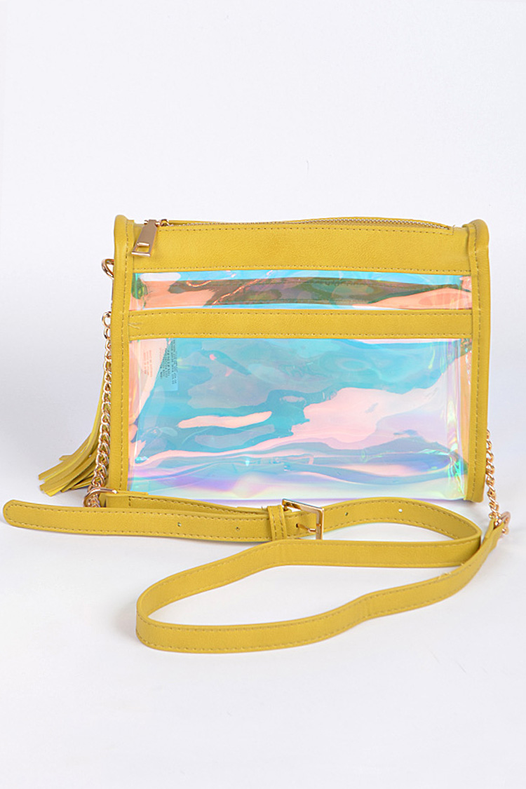 Clear Flashy Crossbody Clutch Bag
