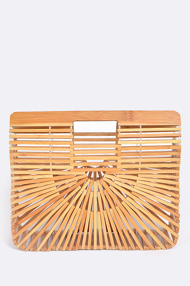 Bamboo Summer Structure Clutch