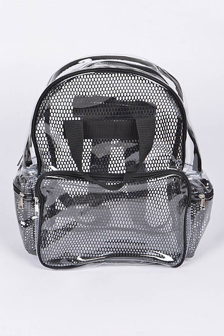 Clear Mesh Backpack