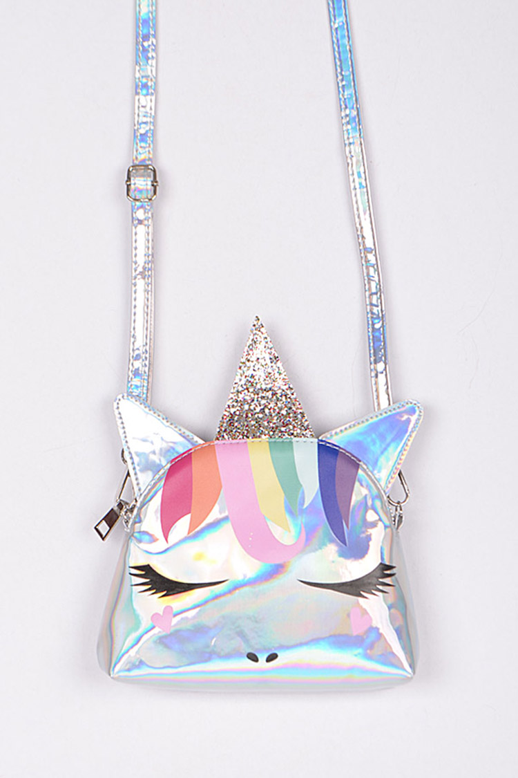 Unicorn Holographic Convertible Clutch Bag