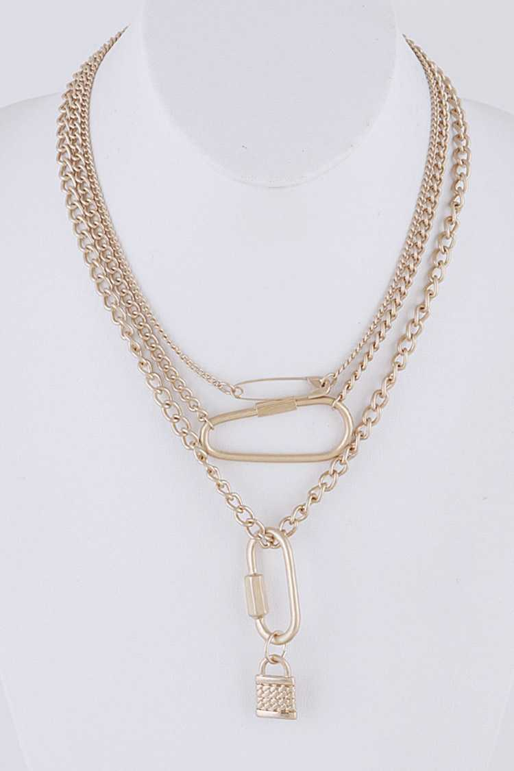 Layer Chain Iconic Necklace Set