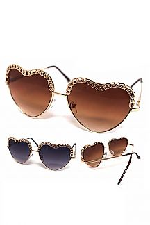 Iconic Chain Rim Heart sunglasses