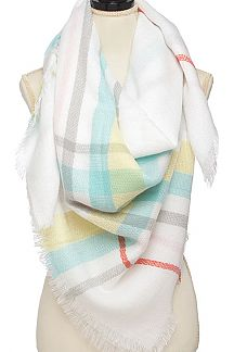 Mad For Plaid Fringe Scarf