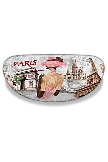 Paris Theme Glasses Case