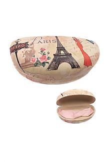 Paris Theme Printed Glasses Case