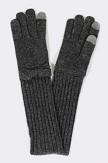Extra Long Fold Over I TOUCH Knit Gloves