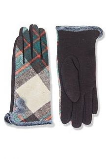 Plaid Smart Touch Gloves