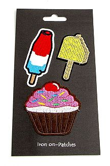 Popsicle Cupcake Patches Set