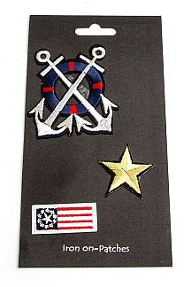 Anchor Star Patches Set