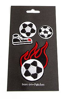 Soccer Ball Mix Patches Set