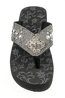 Iconic Mix Studs Fashion Flip Flops
