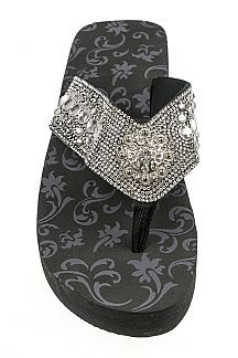 Crystal Concho Iconic Fashion Flip Flops