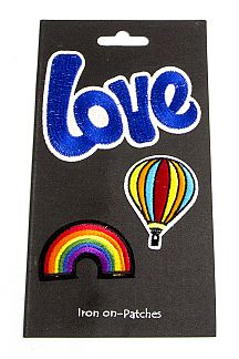 LOVE & Rainbow Mix Patches Set
