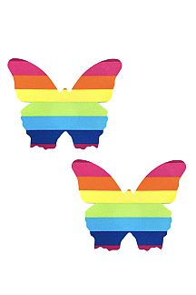 Rainbow Butterfly Nipple Cover