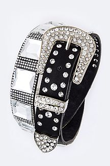 Mix Crystal Studs Statment Fashion Belt