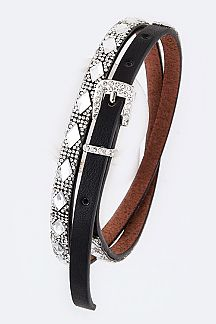Rhumbus Crystal Statement Fashion Belt