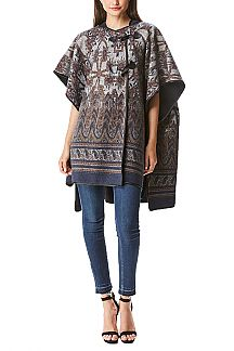 Paisley Print Iconic Hooded Shawl