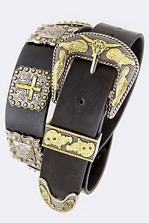 Cross & Studs Western Leather Belt