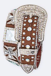 Crystal Cross Statement Western Belt