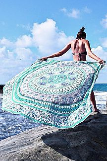 Tribal Printed Convertible Beach & Yoga Throw