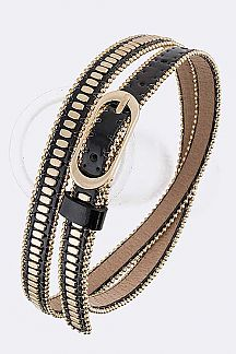 Ball Chain Studs Fashion Belt
