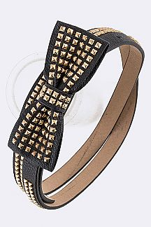 Studded Bow Fashion Belt