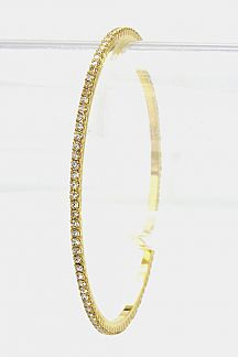 Single Row Crystal Bangle