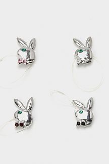 Crystal Bunny Elastic Toe Ring