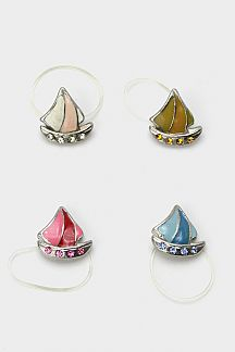 Crystal Yacht Elastic Toe Ring