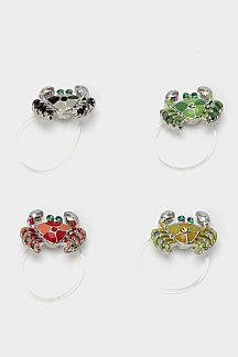 Crystal Crab Elastic Toe Ring
