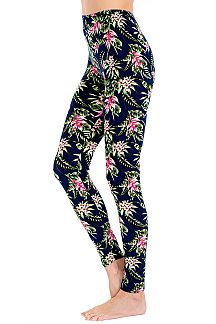 Floral Print Blushed Leggings
