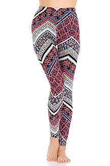Mandala Pattern Print Leggings