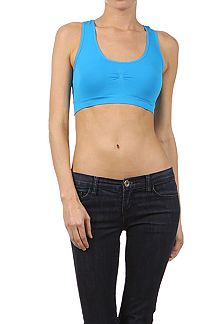 SEAMLESS SOLID SPORTS BRA WITH A RACERBACK