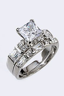 Cubic Zirconia Double Ring