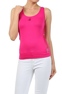 SEAMLESS RACERBACK TANK WITH CUTOUT