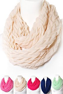 Scale Textured Infinity Scarf