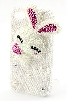 Pearl Bunny iPhone 4/4S Case